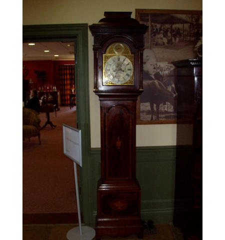 A George III mahogany longcase clock by William Hopkins, Tenterden,