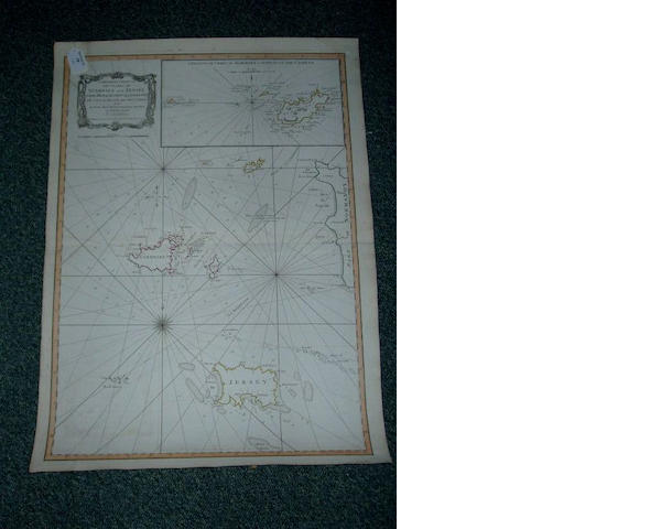 Captain Dobtree: A General Chart of the Islands of Guernsey and Jersey, Sark, Herm, Jethon and Alderney with Cape Le Hague and The Caskets