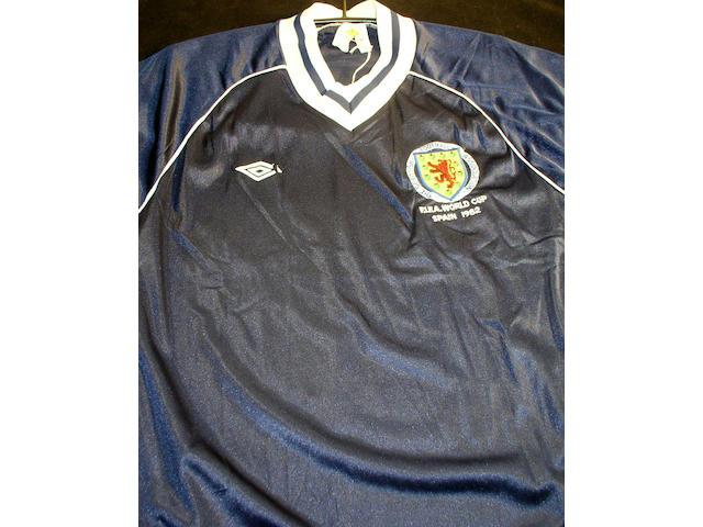 Scotland worn World Cup shirt,