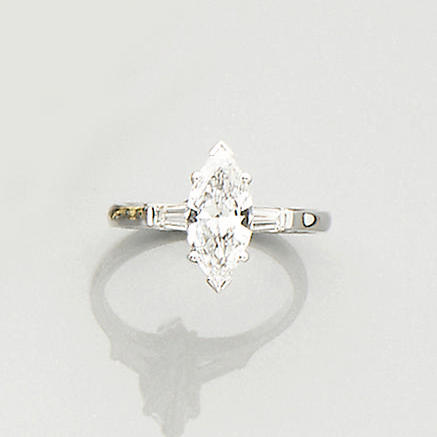 A diamond single-stone ring, by Kutchinsky