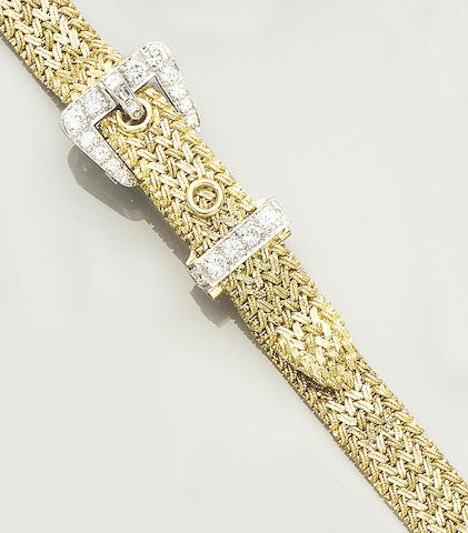 A diamond-set wristwatch, by Kutchinsky