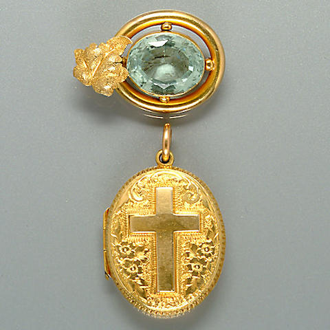 A 19th Century aquamarine brooch (2)