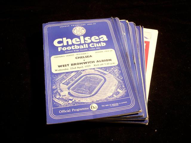 Chelsea programmes 1958/9,