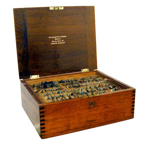 A fine Hardy Roxburgh fly cabinet