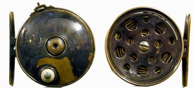 "A Hardy 1896 brass The ""Perfect"" trout fly reel 2 1/2"""
