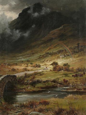 Charles Stuart (British, 19th Century) 'Cader Idris, N. Wales, coming storm', 60.6 x 44.6 cm (23 5/8 x 17 5/8 in)