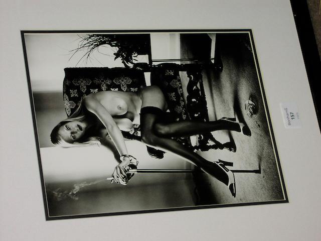 "Helmut Newton, ""Cyberwoman 7"", silver print - date 2000, edition 111/500, 33 x 25cm."