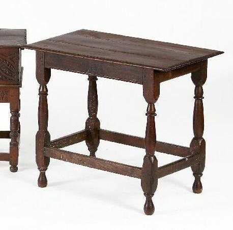 An 18th Century oak side table,