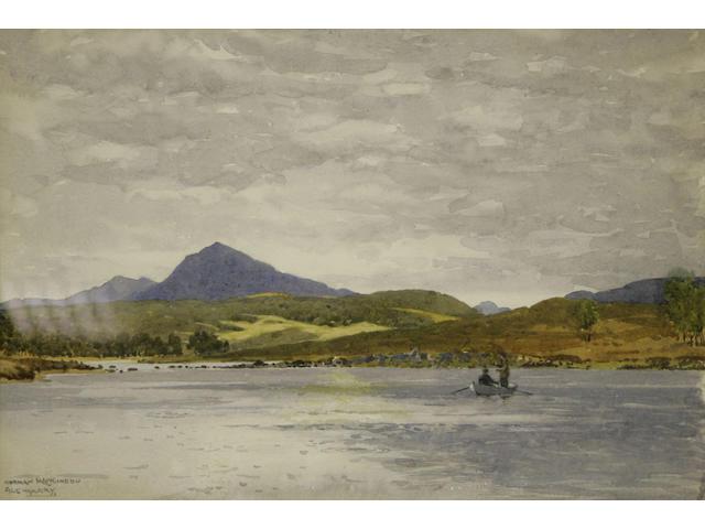Norman Wilkinson (20thc) Fihsermen, Glengarry 34 x 51cm