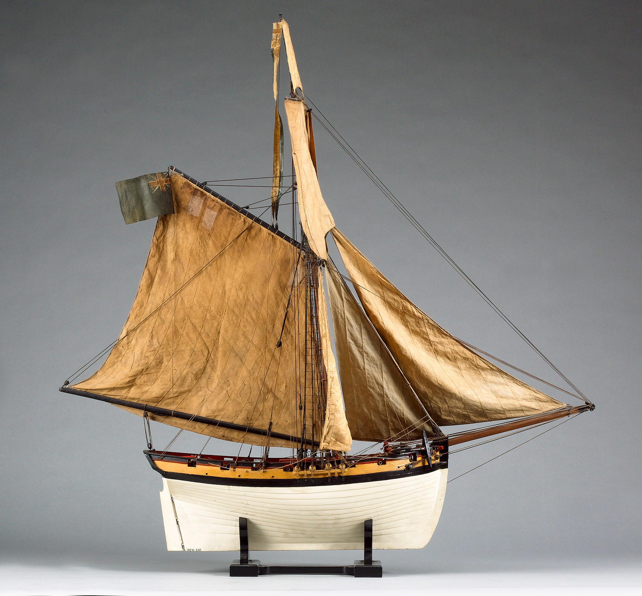 A rare fully rigged contemporary model of an Armed Cutter, English, circa 1800