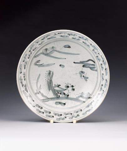 A rare Shoki Imari circular dish