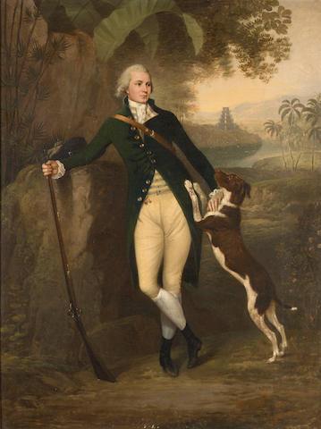 Attrib: Arthur William Devis 'Portrait of a Gentleman' O/C; 38 x 28 inches