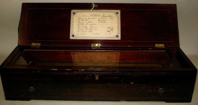 A Nicole Freres forte piano musical box
