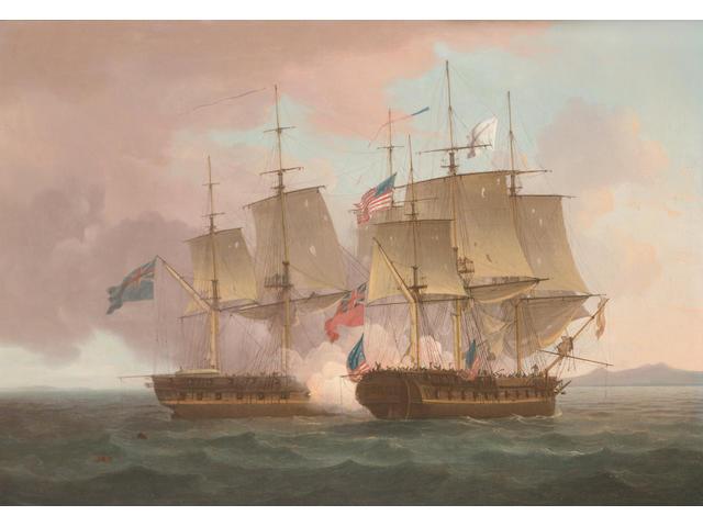 Thomas Whitcombe (British, c.1752-1824) H.M.S. 'Shannon'capturing the U.S.S. 'Chesapeake', 1st. June
