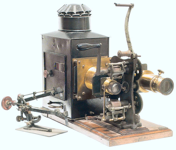 "Bioscope Type 35mm Projector and lantern with label of ""A. Franks, Manufacturing Optician Manchester"