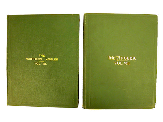 Ten green bound editions of The Northern Angler