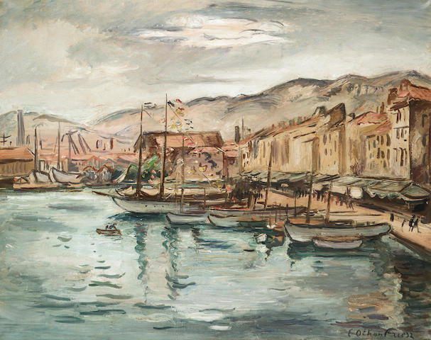 Othon Friesz Harbour Scene