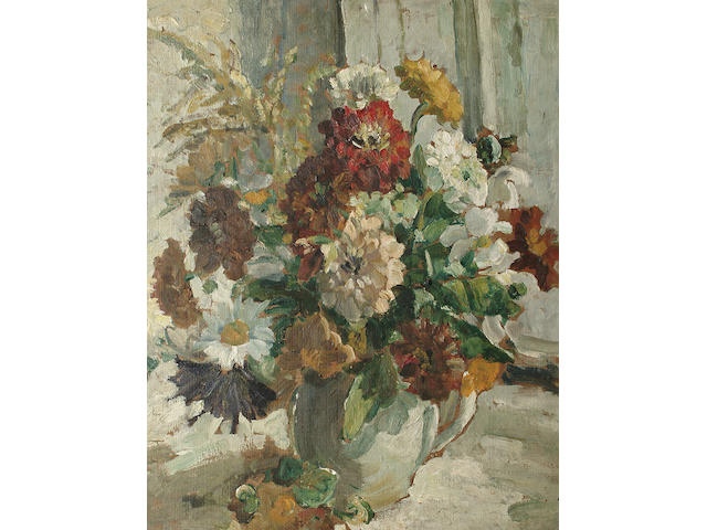 Dorothea Sharp (British, 1874-1955) Floral Arrangement 50 x 40cm (19 3/4 x 15 3/4in)