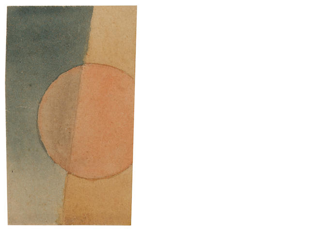 Ivan Vasilievich Kliun (1870-1942) Suprematist Composition 10 x 6 cm. (4 x 2 3/8 in.)