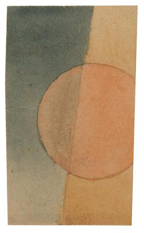 Ivan Vasilievich Kliun (1870-1942) Suprematist Composition 10 x 6 cm. (4 x 2 3/8 in.)