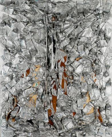 Arman (b.1928) La côte de vailly 81 x 100 cm. (31 7/8 x 39 3/8 in.)