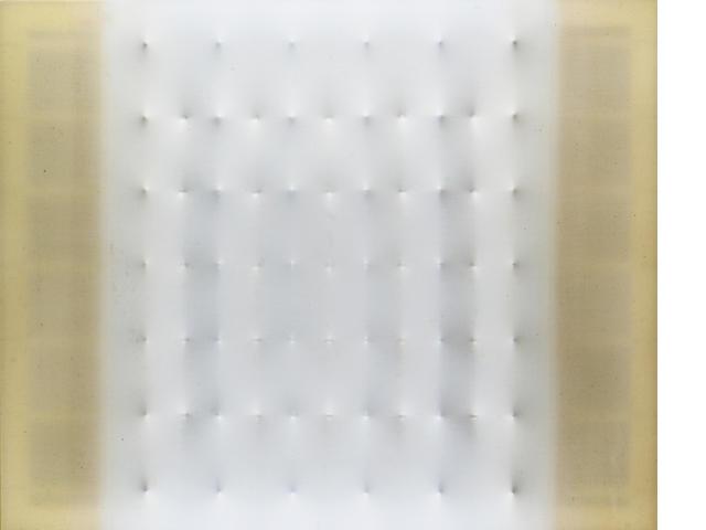 Enrico Castellani (b.1930) Superficie opaline 80 x 100 cm. (31 1/2 x 39 3/8 in.)