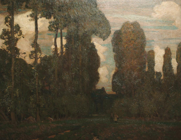Sir Alfred East R.A. (British, 1849-1913) The Wooded Glade 123 x 151cm (48 1/2 x 59 1/2 in.)