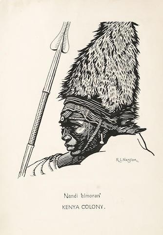 Ray Nestor (British, 1888-1989) Study of 'Nandi 'elmoran' Kenya Colony' all unframed; various sizes (5)