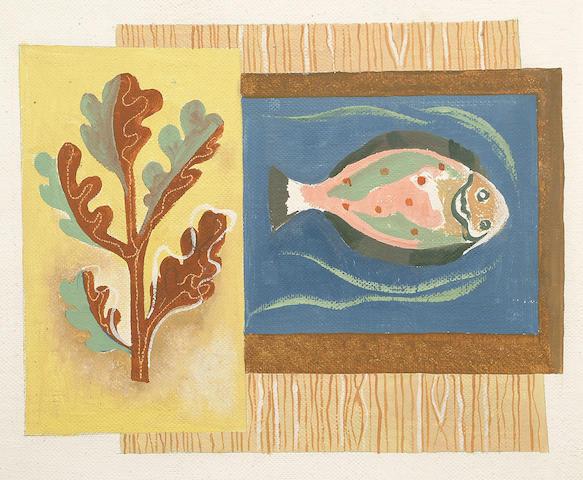 Augustus Lunn (British, 1905-1986) 'Organic Elements' 35.5 x 43cm (14 x 17in)