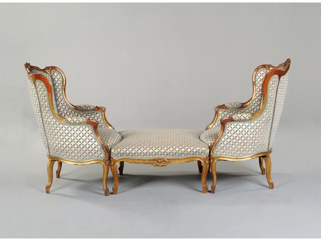 A 19th century giltwood Duchesse brisée