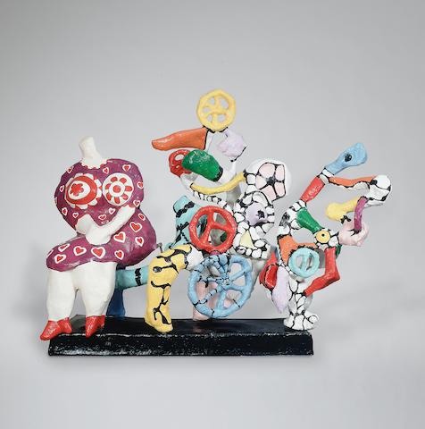 Niki de Saint Phalle (1930-2002) La Machine à rêver  280 x 346 x 120 cm. (110 1/4 x 136 1/4 x 47 1/4