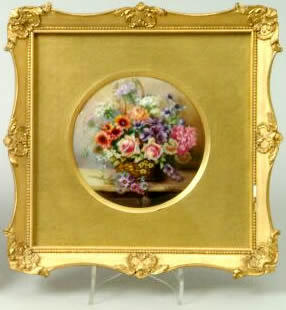 A Royal Worcester plaque