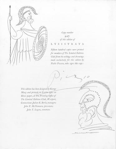 PICASSO (PABLO) ARISTOPHANES. Lysistrata