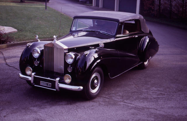Original left-hand drive,1952 Rolls-Royce Silver Dawn Foursome Drophead Coupe  Chassis no. LSHD54 Engine no. S27D