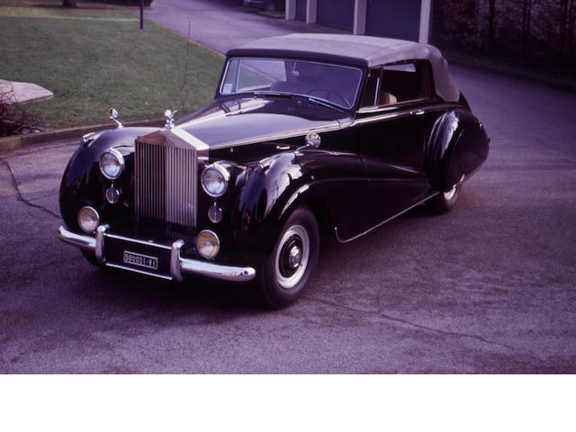 <i>Original left-hand drive</i>,1952 Rolls-Royce Silver Dawn Foursome Drophead Coupe LSHD54