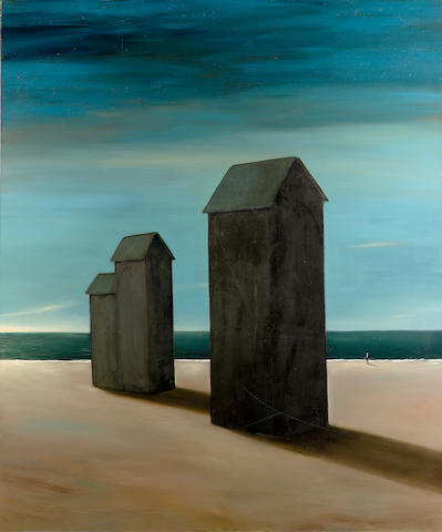 John Kirby (b.1949) On the Beach 190.5 x 160 cm. (75 x 63 in.)