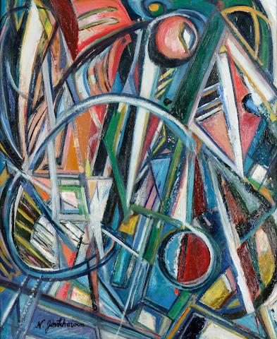 Natalia Sergeevna Goncharova (1881-1962) Rayonist Composition 61 x 50.8 cm (24 x 20 in.)