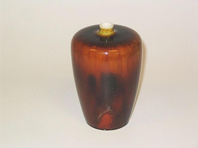 Burslem Items A Doulton Burslem Crystalline Vase
