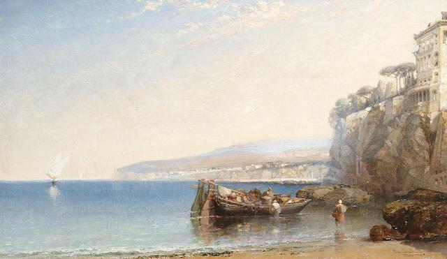 Arthur Joseph Meadows (British, 1843-1907) 'Sorrento, Gulf of Salerno', 29.7 x 50 cm (11 3/4 x 19 5/8 in)