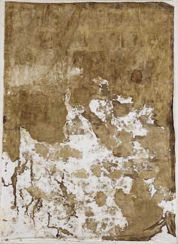 Hermann Nitsch (b.1938) Reliktbild 209 x 153 cm. (82 1/4 x 60 1/4 in.)