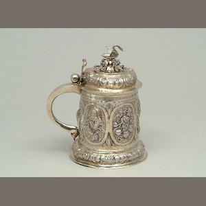 A late 17th Century parcel-gilt tankard By Jacob Pfaff, Nürnburg circa 1700