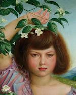 Otto Dix (1891-1969) Nelly als Flora 83 x 65 cm. (32 5/8 x 25 5/8 in.)