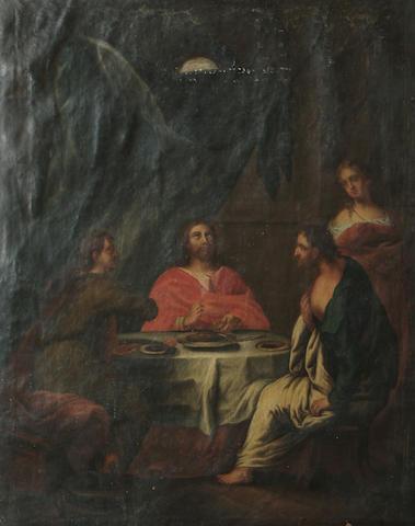 Follower of Johann Heinrich Wilhelm Tischbein The Supper at Emmaus, 92.8 x 74 cm. (36½ x 29 1/8 in.)