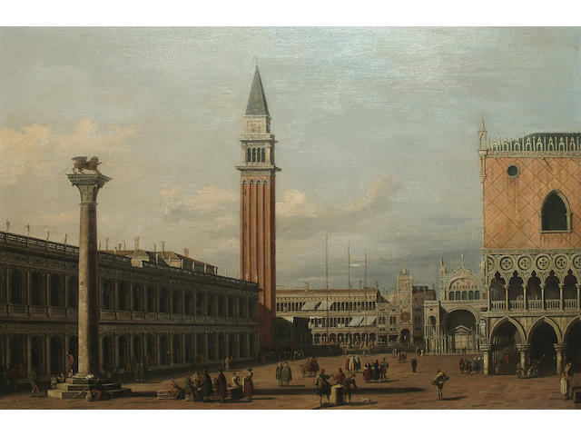 After Antonio Canaletto The Piazzetta looking north, 49.7 x 75 cm (19 1/2 x 29 1/2 in)