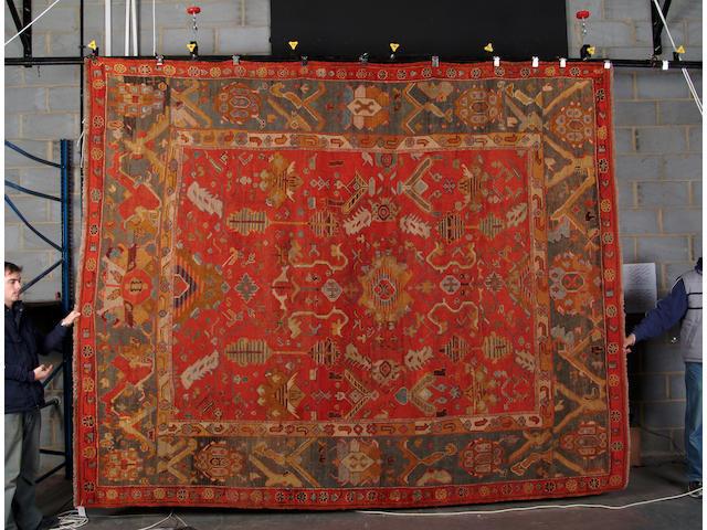 An Ushak carpet West Anatolia, 357cm x 286cm