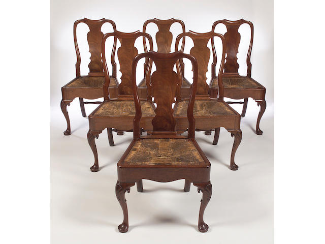 A set of six George II mahogany Dining Chairs,