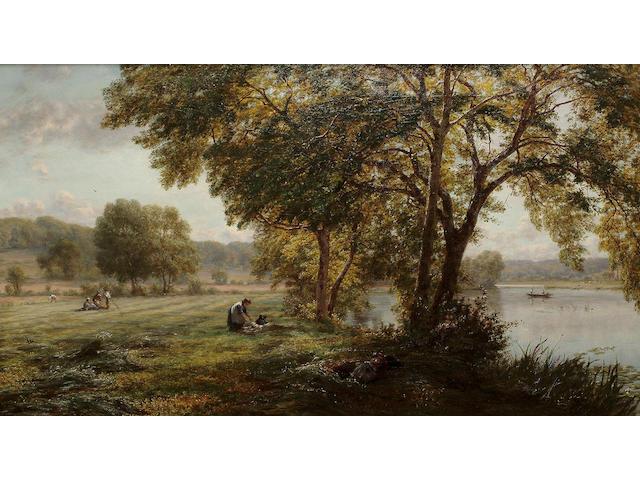 Walter Field (British, 1837-1901) New Mown Hay, 51 x 90 cm (20 1/8 x 35 3/8 in)