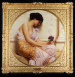 John William Godward, RBA  (British 1861-1922) Violets, sweet violets 92 cm. (36 1/4 in.) diameter