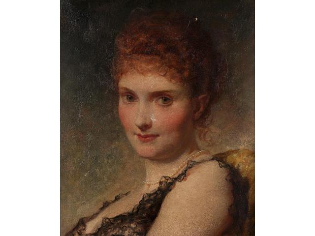 George Elgar Hicks, RBA (1824-1914) British A society beauty,