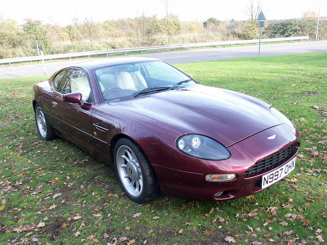1995 Aston Martin DB7 3.8-Litre Coupe  Chassis no. SCFAA1115SK100229